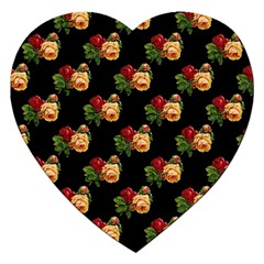Vintage Roses Wallpaper Pattern Jigsaw Puzzle (heart)