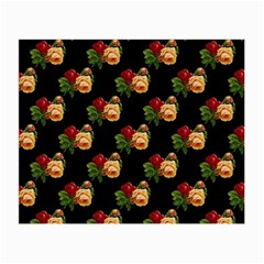 Vintage Roses Wallpaper Pattern Small Glasses Cloth