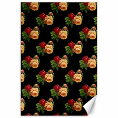 Vintage Roses Wallpaper Pattern Canvas 24  X 36