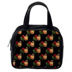 Vintage Roses Wallpaper Pattern Classic Handbags (one Side)