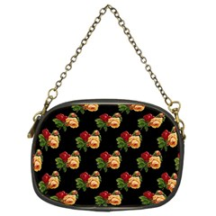 Vintage Roses Wallpaper Pattern Chain Purses (two Sides)