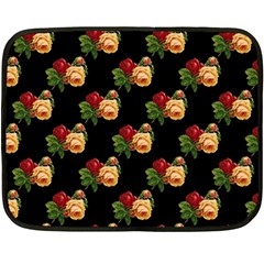 Vintage Roses Wallpaper Pattern Fleece Blanket (Mini)