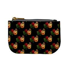 Vintage Roses Wallpaper Pattern Mini Coin Purses