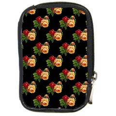 Vintage Roses Wallpaper Pattern Compact Camera Cases