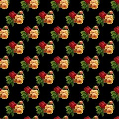 Vintage Roses Wallpaper Pattern Magic Photo Cubes