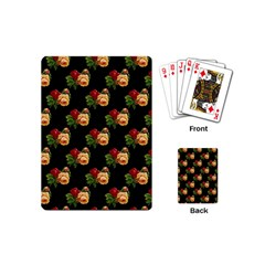 Vintage Roses Wallpaper Pattern Playing Cards (mini)