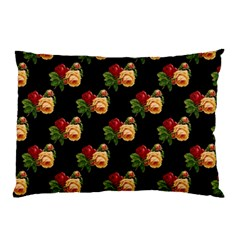 Vintage Roses Wallpaper Pattern Pillow Case (two Sides)