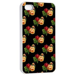 Vintage Roses Wallpaper Pattern Apple iPhone 4/4s Seamless Case (White)