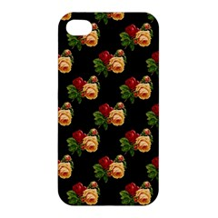 Vintage Roses Wallpaper Pattern Apple iPhone 4/4S Hardshell Case