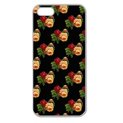 Vintage Roses Wallpaper Pattern Apple Seamless Iphone 5 Case (clear)