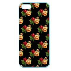 Vintage Roses Wallpaper Pattern Apple Seamless Iphone 5 Case (color)