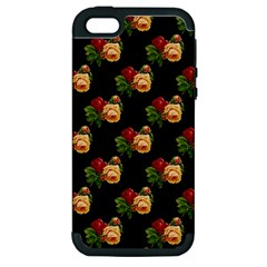 Vintage Roses Wallpaper Pattern Apple iPhone 5 Hardshell Case (PC+Silicone)
