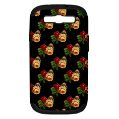 Vintage Roses Wallpaper Pattern Samsung Galaxy S III Hardshell Case (PC+Silicone)