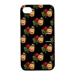 Vintage Roses Wallpaper Pattern Apple iPhone 4/4S Hardshell Case with Stand