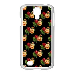 Vintage Roses Wallpaper Pattern Samsung Galaxy S4 I9500/ I9505 Case (white)
