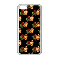Vintage Roses Wallpaper Pattern Apple iPhone 5C Seamless Case (White)