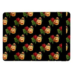 Vintage Roses Wallpaper Pattern Samsung Galaxy Tab Pro 12 2  Flip Case