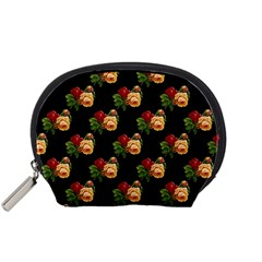 Vintage Roses Wallpaper Pattern Accessory Pouches (Small)