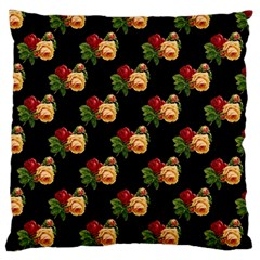 Vintage Roses Wallpaper Pattern Large Flano Cushion Case (two Sides)