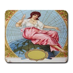 Vintage Art Collage Lady Fabrics Large Mousepads