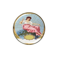 Vintage Art Collage Lady Fabrics Hat Clip Ball Marker (4 Pack)