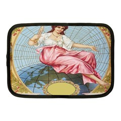 Vintage Art Collage Lady Fabrics Netbook Case (medium)