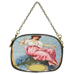 Vintage Art Collage Lady Fabrics Chain Purses (Two Sides)