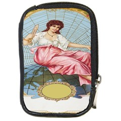 Vintage Art Collage Lady Fabrics Compact Camera Cases