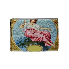 Vintage Art Collage Lady Fabrics Cosmetic Bag (medium)