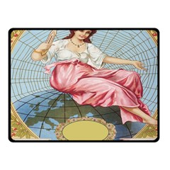 Vintage Art Collage Lady Fabrics Fleece Blanket (Small)