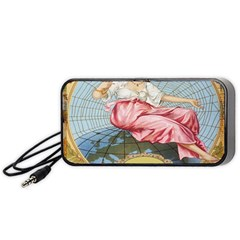Vintage Art Collage Lady Fabrics Portable Speaker (black)