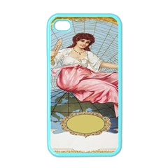 Vintage Art Collage Lady Fabrics Apple iPhone 4 Case (Color)