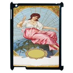Vintage Art Collage Lady Fabrics Apple Ipad 2 Case (black)