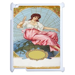 Vintage Art Collage Lady Fabrics Apple iPad 2 Case (White)