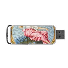 Vintage Art Collage Lady Fabrics Portable Usb Flash (two Sides)