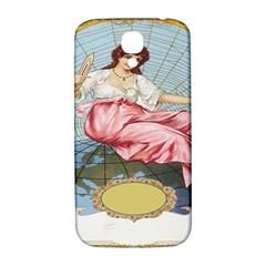 Vintage Art Collage Lady Fabrics Samsung Galaxy S4 I9500/i9505  Hardshell Back Case