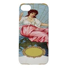 Vintage Art Collage Lady Fabrics Apple Iphone 5s/ Se Hardshell Case