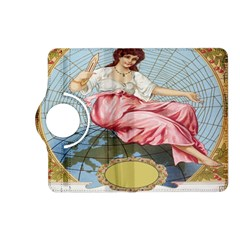 Vintage Art Collage Lady Fabrics Kindle Fire Hd (2013) Flip 360 Case