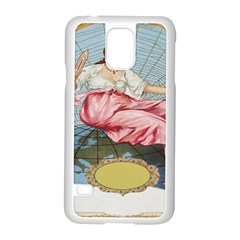 Vintage Art Collage Lady Fabrics Samsung Galaxy S5 Case (white)