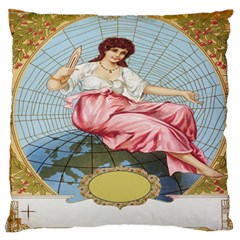 Vintage Art Collage Lady Fabrics Standard Flano Cushion Case (one Side)