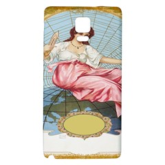 Vintage Art Collage Lady Fabrics Galaxy Note 4 Back Case