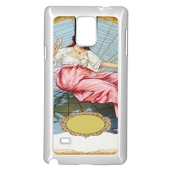 Vintage Art Collage Lady Fabrics Samsung Galaxy Note 4 Case (White)