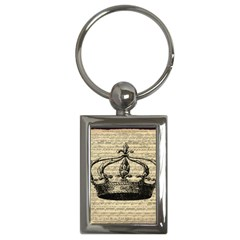 Vintage Music Sheet Crown Song Key Chains (Rectangle)
