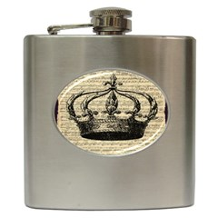 Vintage Music Sheet Crown Song Hip Flask (6 oz)