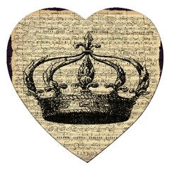 Vintage Music Sheet Crown Song Jigsaw Puzzle (heart)