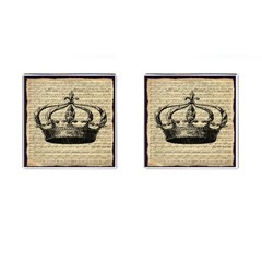 Vintage Music Sheet Crown Song Cufflinks (Square)