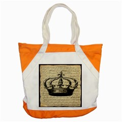 Vintage Music Sheet Crown Song Accent Tote Bag