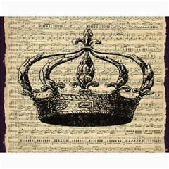 Vintage Music Sheet Crown Song Canvas 8  x 10