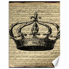 Vintage Music Sheet Crown Song Canvas 12  X 16