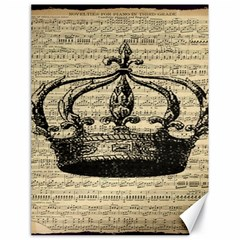 Vintage Music Sheet Crown Song Canvas 18  x 24
